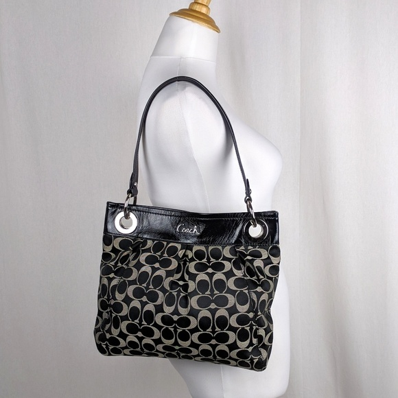 bc2c432799 Coach Bags | Ashley Sateen Hippie Shoulder Bag Large Logo | Poshmark