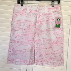 Lilly Pulitzer Alligator Crocodile Shorts
