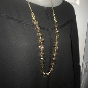 Vintage Smoky quartz faceted bead