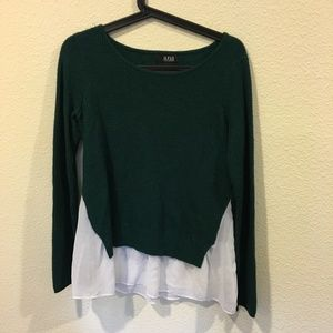 a.n.a Tops - JCPenney a.n.a long sleeve  green sweater blouse