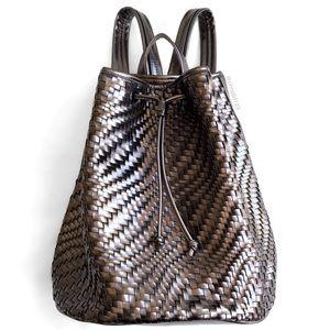 Deux Lux Woven Metallic Backpack