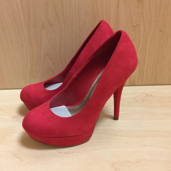 02eabe50a brash Shoes | New Pumps Red Suede Heels Size 65 | Poshmark