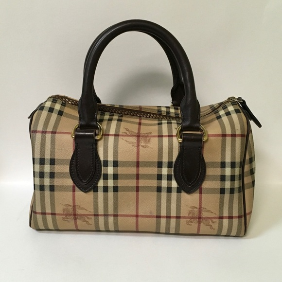 cfbd40c916e2 Burberry Handbags - Burberry Haymarket Check Boston Bag