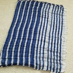 Accessories - New Blue and white striped sheer scarf