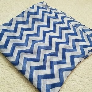 Accessories - Lightweight blue and white infinity scarf