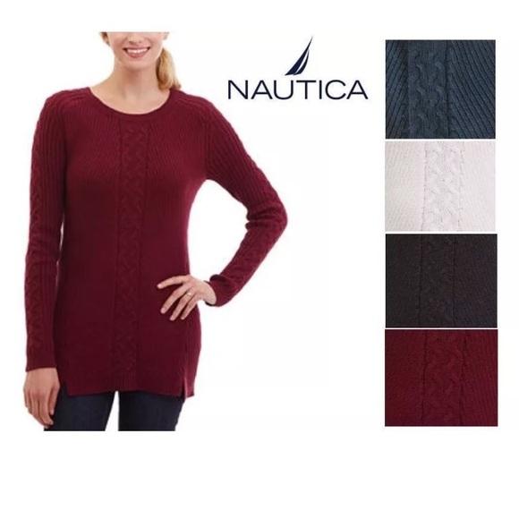 Nautica - *NAVY* Nautica 100% Cotton Knit Tunic Sweater from ...