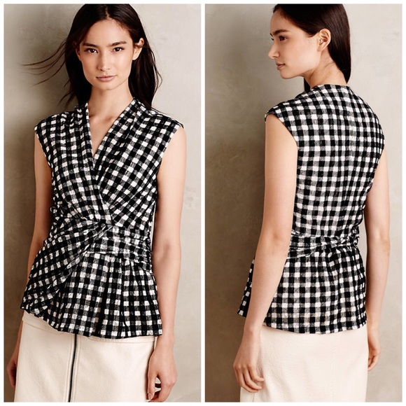 Anthropologie Tops - Anthropologie Deletta Gingham Top
