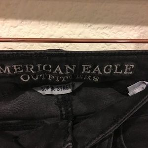 American Eagle Outfitters Jeans - American Eagle black ripped legging jeans