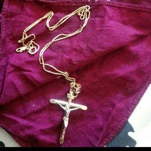 14kGold chain+Cross