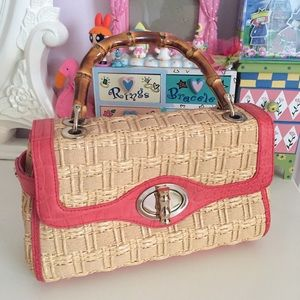 NEW! RARE Elaine Turner Peach Pink Bag Purse