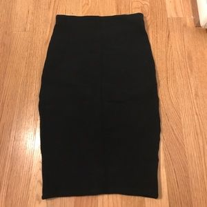 Black bandage high wasted Donna mizani skirt