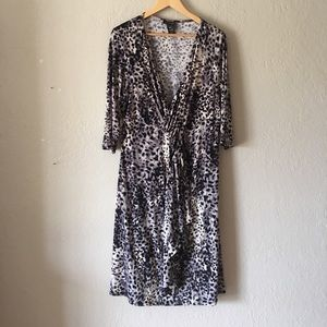 Lane Bryant jersey knit faux wrap dress NWOT