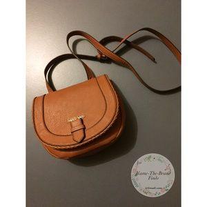 Franco Sarto Brown Leather crossbody bag