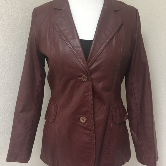 e731c58e *Vintage* Sears JR Bazaar Leather Jacket