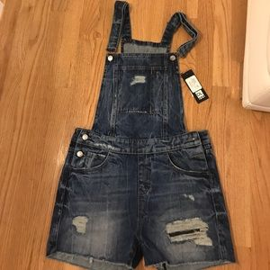 NWT short overalls size small dl1969