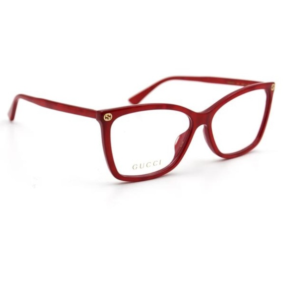 Gucci Accessories | Brand New Eyeglasses Frame Pearled Red | Poshmark