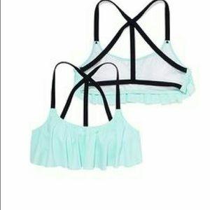 victorias secret pink flounce bikini top size M