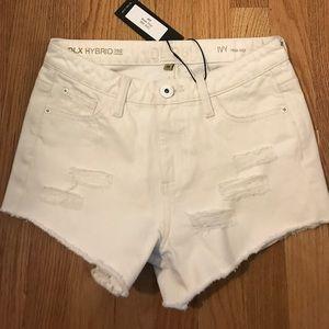 NWT white high rise dl1969 denim shorts