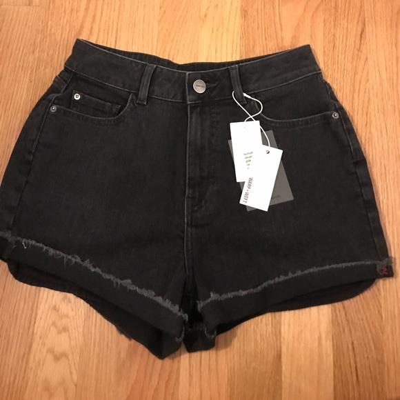 warp+weft Pants - NWT high rise black denim short