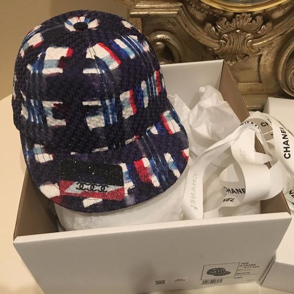 e5d95e41ff3 CHANEL Accessories - Chanel Tweed Baseball Navy Cap