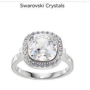 Swarovski crystal ring new sz7