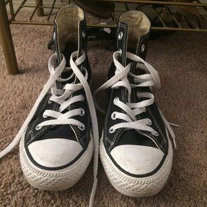 Black high top converse size 6