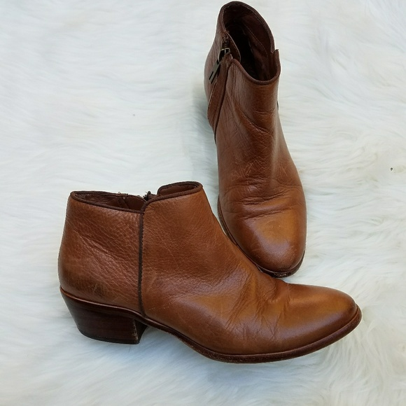 93aee9b12 SAM EDELMAN Petty Ankle Boots Booties Cognac. M 59f8e5d5713fde2958024172