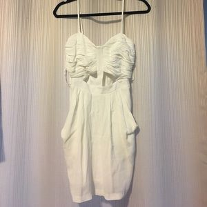 White keyhole dress