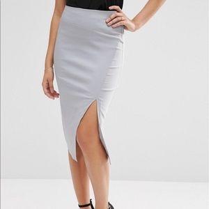 ASOS Bengaline Skirt with Slit