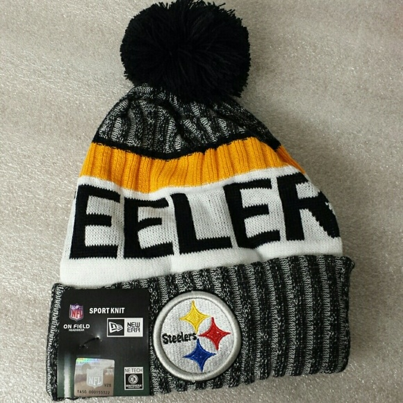 8053a3e0 Steelers beanie knit winter team hat NWT