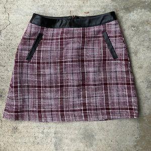Frenchi Plum Tweed Miniskirt