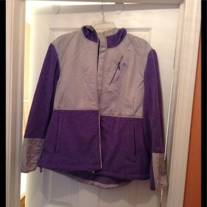 Purple and gray trimmed jacket, worn twice