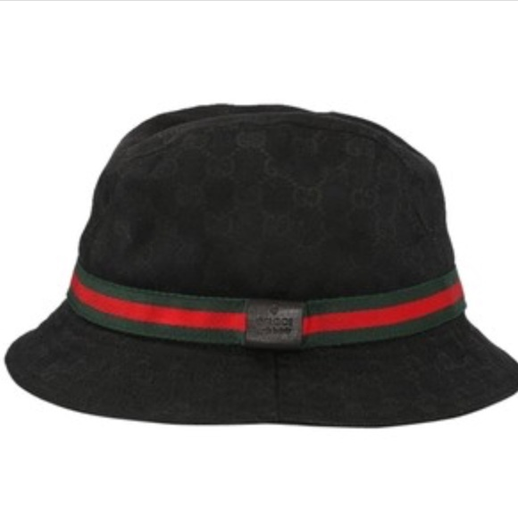 Gucci Accessories - Black Gucci Guccissima Bucket Hat XL 23f905e67ad1
