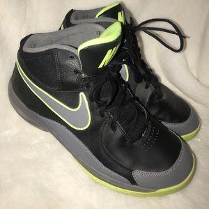 green and black nike high tops