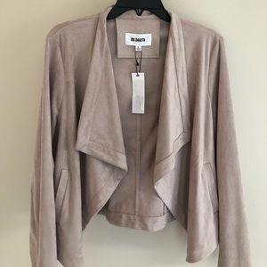 B.B. Dakota faux suede drape jacket Sz. L