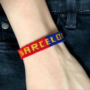 $4 BUNDLED🌿 Barcelona Team Woven Bracelet