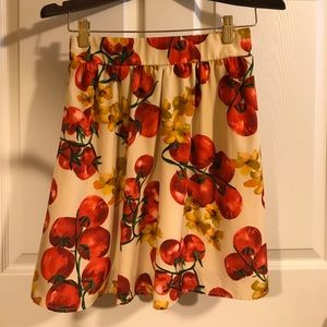 Small Everly Garden Tomato Print Skirt