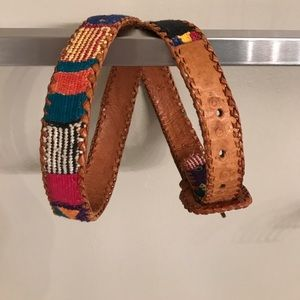 Other - Embroidered leather belt
