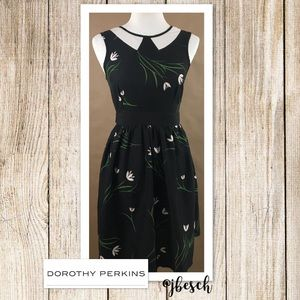 Dorothy Perkins Peter Pan Collar Floral Dress