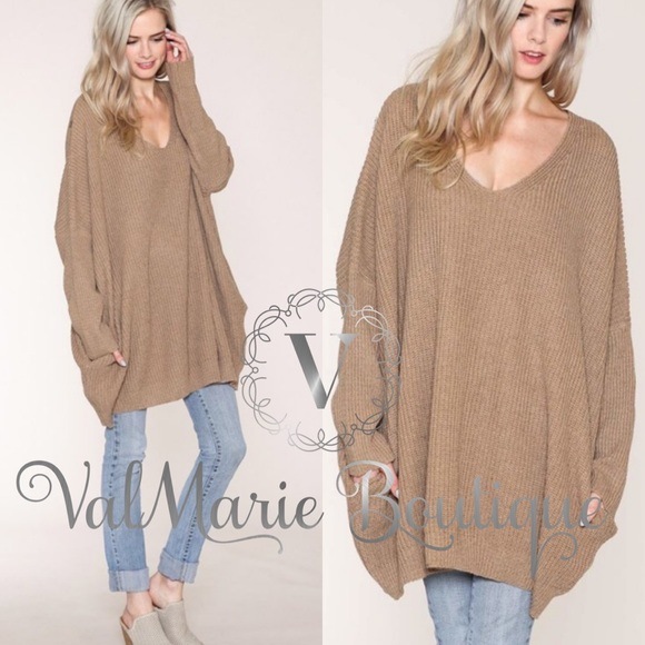 ValMarie Sweaters - 💠ARRIVED💠 MOCHA OVERSIZED SWEATER