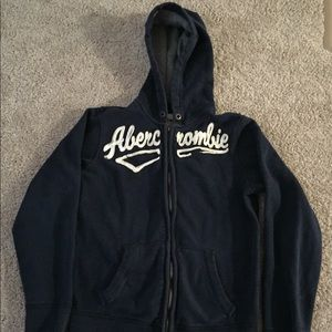 Abercrombie and Fitch Boys zip up hoodie size XL