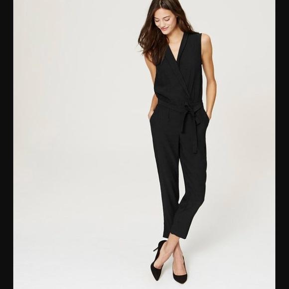 79b2c469a5d LOFT Pants - Ann Taylor LOFT black jumpsuit