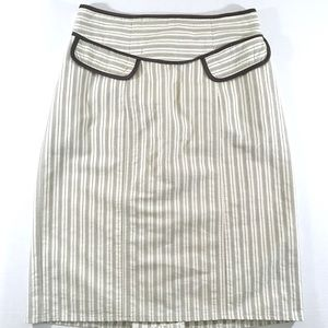 Nanette Lepore Green & Off White Skirt (4)