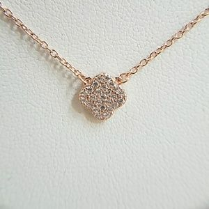 """Jewelry - Rose Gold Clover Necklace 18"""" adjustable"""