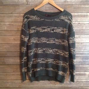 T/O Striped Chunky Knit Sweater