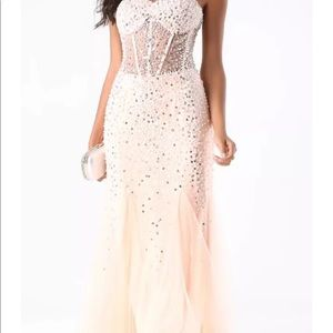 New Bebe evening prom gown size 4 $329