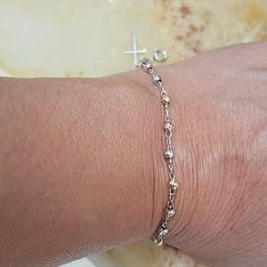 Jewelry - 14k Gold plated Rosary Cross Bracelet