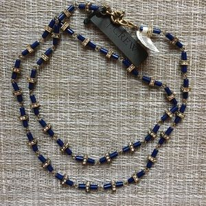 J. Crew Navy & Silver Necklace — NWT 🎁