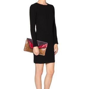 Large Color Block Envelope Clutch