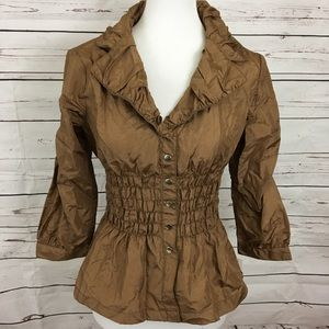 Bronze Peplum Top